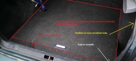 Skoda Octavia dvojitá podlaha